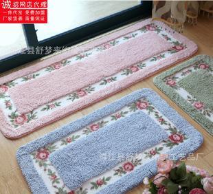 производственно - новый корейский розы коврик ковер тряпка кухня, балкон, ванная комната анти - коврик османов оптом