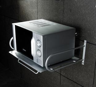 Super thick increase - space aluminum bathroom hardware kitchen microwave oven rack bar with fine polishing process