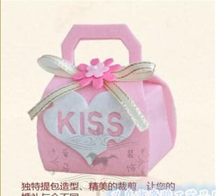 Manufacturers custom-made felt candy boxes felt cloth wedding wedding candy box gift box wedding gift