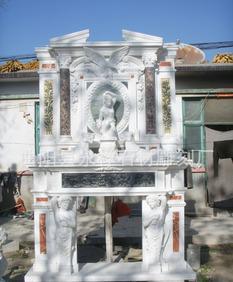 メーカーの直販の大理石のコンチネンタルの石刻の石刻の石刻の石刻の人物の暖炉