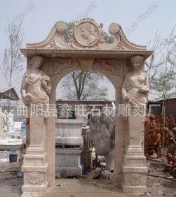 大理石の石门套彫刻ペーチカ欧風门套彫刻の漢白玉の门套専門あつらえるメーカー