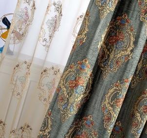 欧美风格,田园风格,卡通儿童,简约现代,精品窗帘系列,雪尼尔窗帘(花纹