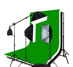 摄影器材 3柔光箱持续照明装备 摄影工作室背景套装;