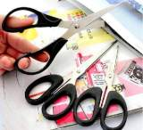 1043高級辦公家用必備剪刀 批發百貨不銹鋼剪學生手工剪 14cm;