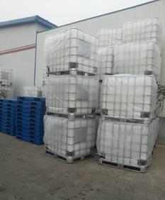 دلو من البلاستيك الحاوية 1 طن البليت البلاستيكية 1000L الدرابزين برميل الكيميائية، نقل مربع 1 مكعب