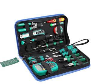 老A 专业电讯工具套装 万用表 电烙铁电子维修工具组套 LA101316;
