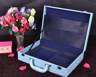 久田出品 皮质工具箱 茶具包装盒 招商地产皮箱 杯子礼品盒交车盒;
