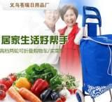 【手拖车】带凳可折叠拉杆购物车便携式拖车超市买菜菜礼品广告车;