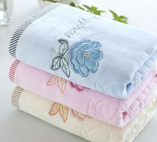 Towel factory wholesale 32 shares rose cut woolwork cotton towel market welfare a group of high-grade goods
