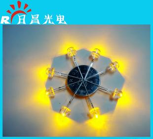 The supply of straw yellow color light emitting diode F5mm grass toy lamp with LED light emitting diode