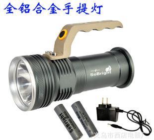고성능 빛 핸드 램프 LED 롱 슛하다 모자등 CREE 빛 탐조등 알루미늄 잔 플래시 충전 도매