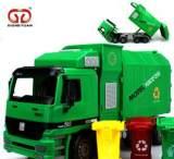 XIONGYUANG兒童超大號慣性垃圾車可升降帶垃圾桶 耐摔玩具車批發;
