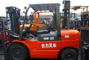 供应5吨二手柴油叉车二手物流设备叉车大吨位柴油叉车销售;