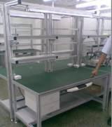 专业订制40*40铝型材工作台操作台 车间防静电实验桌检验桌;