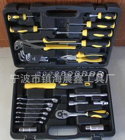供应41件套组套工具 组合五金工具箱 家用工具箱;
