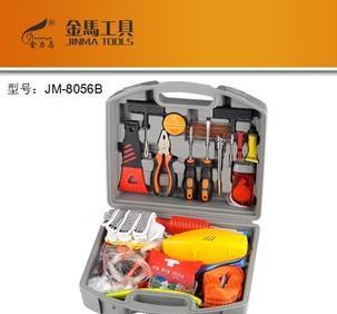 金马工具 JM-8056B 汽车应急工具箱套装组合 维修工具盒 53件套;