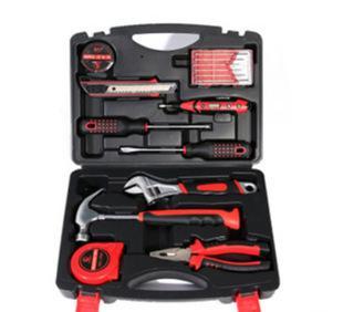高碳钢16件套家用五金组合工具套装小五金工具 保险工具箱组套;