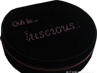 化妆工具箱高档鹿皮绒烫钻化妆箱半圆韩国化妆箱化妆品包装箱订做;