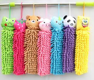 полотенца мультфильм животных может повесить украшения, полотенца, кораллы полотенца для рук