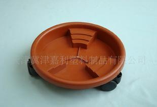 低价供应 300塑料万向轮托盘花盆容器 家庭专用 大棵植物优选;