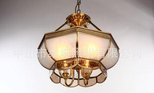 全铜灯饰 欧式客厅吊灯设计家居照明灯具 客厅餐厅书房卧室送光源;