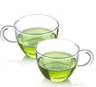定制 耐高温玻璃茶具 玻璃小杯杯 品杯 带把 80ML 咖啡杯玻璃杯;