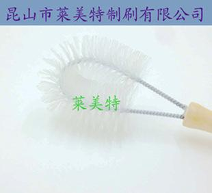 The supply of wood handle anti-static round industrial brush factory direct industrial dust industrial nylon brush