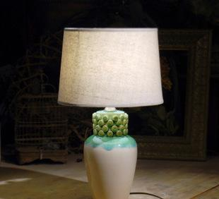 福丽特工厂出口转内销陶制饰品 陶瓷设计师工作灯 装饰床头灯;