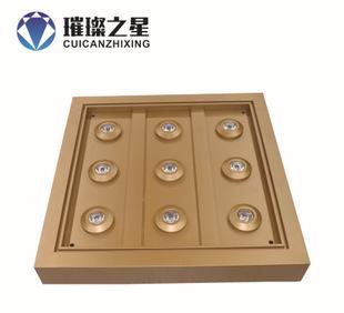 厂家加工定做 珠宝led照明柜台天花灯新款 满天星LED灯盘展柜顶灯;