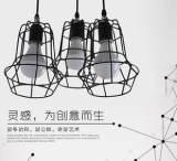北欧餐厅灯吧台餐厅吊灯 三头创意个性现代复古工业餐吊灯;