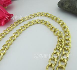 铝链批发 时尚女包链条 手链箱包服饰五金链条 彩色铝磨链;