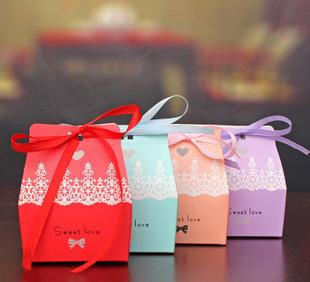The wedding sweet candy boxes personalized wedding candy packaging box creative wedding supplies