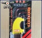 厂家供应 广东手动工具扳手 古铜9支套装加长公制球头内六角扳手;