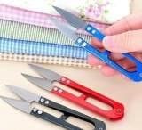 创意家居 修纱线剪刀 十字绣专用剪刀剪线头 便携U型小剪刀 15g;