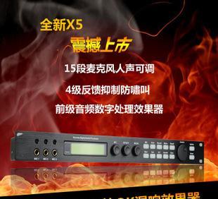 устройство цифровой ktv до уровня профессиональных эффект предлежание аудио процессор усилитель реверберация, анти - вой сверху Руй X5