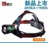 夜钓灯智能充电旋转变焦T6 户外钓鱼感应头灯 LED强光头灯批发;
