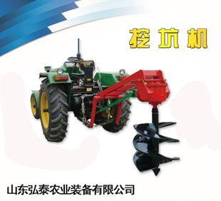 厂家加工生产农业机械装备拖拉机带动挖坑机器;