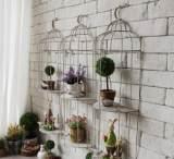 美式乡村复古铁艺鸟笼服装店铺橱窗墙面壁挂壁饰家居装饰花架3143;