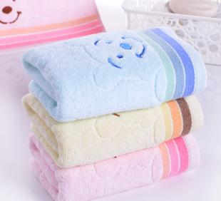 Special offer promotional antibacterial water absorbing skin health cotton towel face bear household towel can be customized