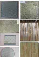 专业加工透明半透铁丝玻璃8mm铁丝玻璃深加工欢迎来图来样加工;