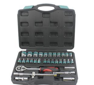 厂家批发沃尔范套筒扳手组合 32件套 汽修组套组合工具;