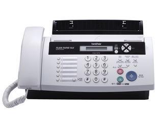 兄弟FAX-878普通纸传真机 英文显示电话复印无纸接收家用型;