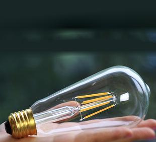 爱迪生LDE灯泡ST64奶嘴灯丝4W节能灯泡 E27螺口;