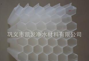 卖六角蜂窝斜管 食品级聚丙烯材质 PP斜管直管填料 厂家负责安装;