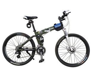 厂家直销24速山地自行车碟刹变速车前后减震速降车折叠山地车;