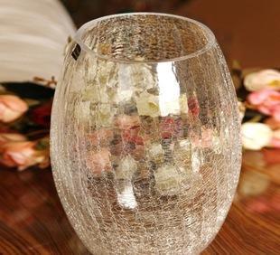 玻璃工艺品 吊兰水培工艺瓶 花插摆件 冰花工艺玻璃花瓶 玻璃制品;