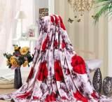 珊瑚绒素色毛毯加厚貂绒云毯卡通绒毯办公室空调午睡毯法兰绒毯子;