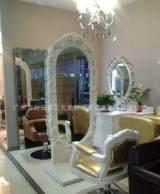 高档欧式单面镜台 美发镜台 发廊专业美发镜台 化妆台 欧式理发镜;