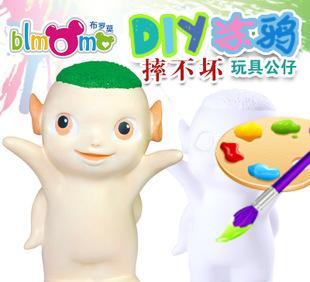 儿童手工DIY玩具非石膏娃娃模具搪胶彩绘陶瓷涂色白胚像批发S011;