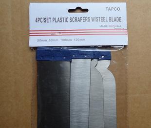سكين المعجون مكشطة البلاستيك شفرة 4 قطع)